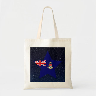 Cayman Islands Flag Star In Space Budget Tote Bag