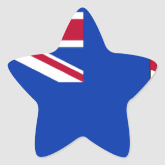 Cayman Islands Flag Star Sticker