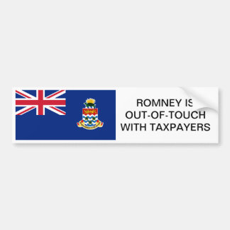 Cayman Islands flag; Taxes R4 the middle-class. Bumper Sticker