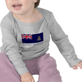 Cayman Islands Flag with Name T-shirts