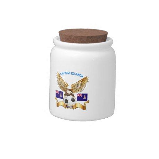 Cayman Islands Football Designs Candy Jar