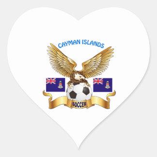Cayman Islands Football Designs Heart Stickers