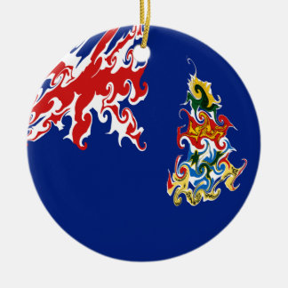 Cayman Islands Gnarly Flag Ceramic Ornament