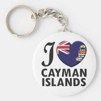 Cayman Islands Love Basic Round Button Keychain
