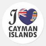 Cayman Islands Love Classic Round Sticker
