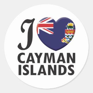 Cayman Islands Love Round Sticker