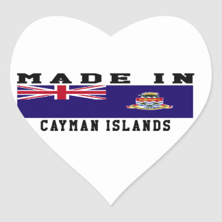 Cayman Islands Made In Designs Heart Stickers