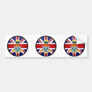 Cayman Islands quality Flag Circle Bumper Sticker