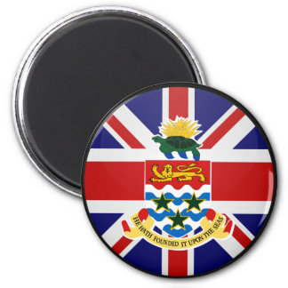 Cayman Islands quality Flag Circle Magnet