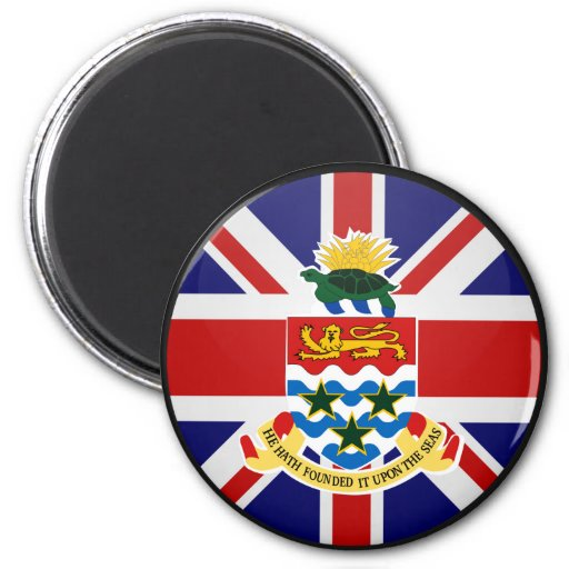 Cayman Islands quality Flag Circle 2 Inch Round Magnet