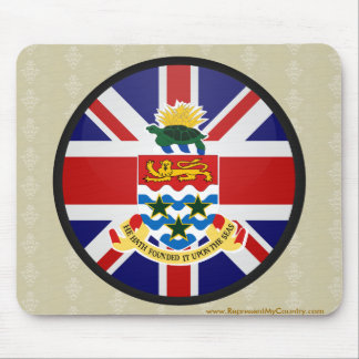 Cayman Islands quality Flag Circle Mouse Pad