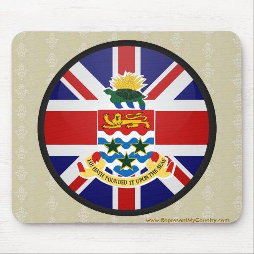 Cayman Islands quality Flag Circle Mouse Pad