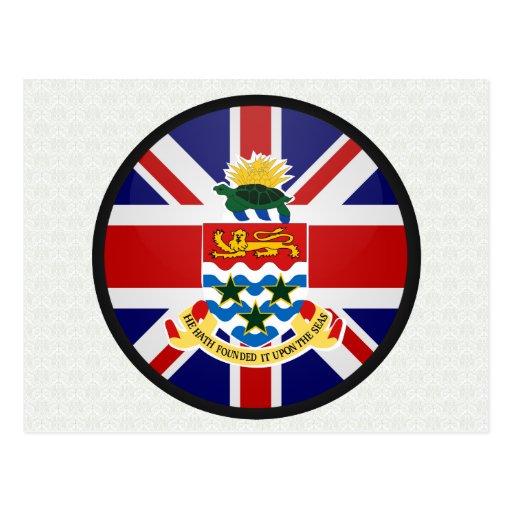 Cayman Islands quality Flag Circle Postcards