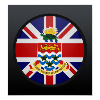 Cayman Islands quality Flag Circle Poster
