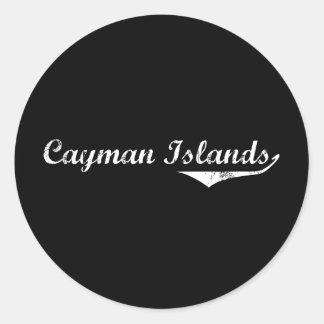Cayman Islands Revolution Style Classic Round Sticker