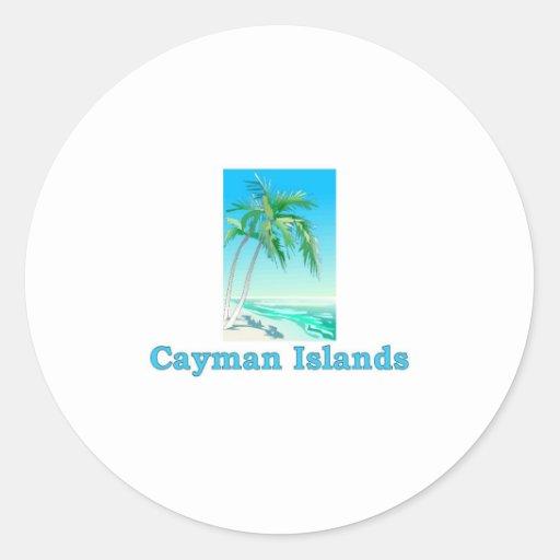 Cayman Islands Round Sticker