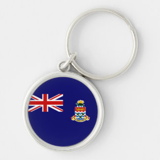 cayman islands Silver-Colored round keychain