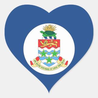 Cayman Islands Heart Stickers