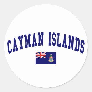 Cayman Islands Style Round Sticker