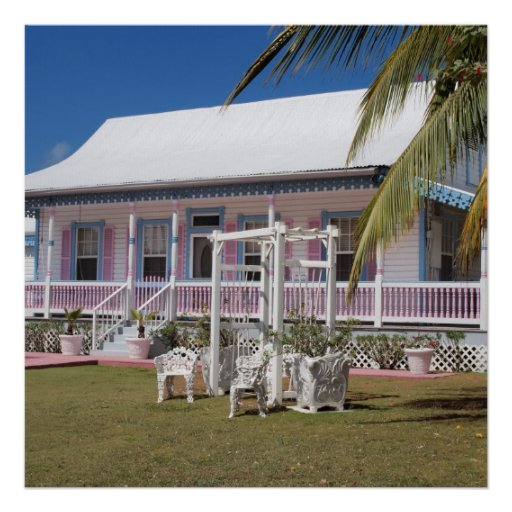 Cayman Islands Traditional House Poster