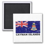 Cayman Islands Vintage Flag 2 Inch Square Magnet
