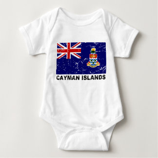 Cayman Islands Vintage Flag Baby Bodysuit