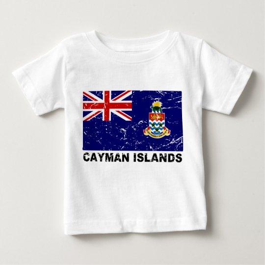 Cayman Islands Vintage Flag Baby T-Shirt