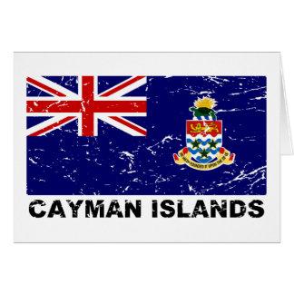 Cayman Islands Vintage Flag Card