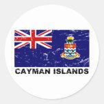 Cayman Islands Vintage Flag Classic Round Sticker