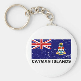 Cayman Islands Vintage Flag Keychain