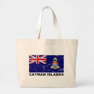 Cayman Islands Vintage Flag Large Tote Bag