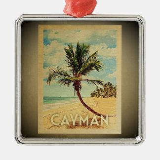 Cayman Islands Vintage Travel Ornament Palm Tree