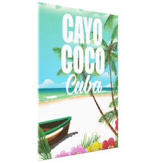Cayo Coco Cuban beach vacation poster Canvas Print