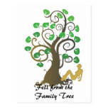 Cayó del árbol de familia tarjeta postal