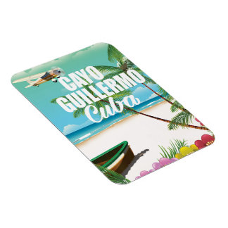 Cayo Guillermo beach vacation poster Magnet