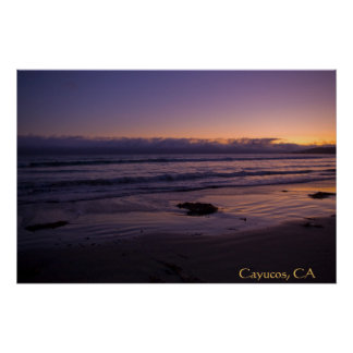Cayucos, CA Beach Sunset Poster