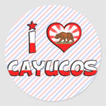 Cayucos, CA Pegatina Redonda