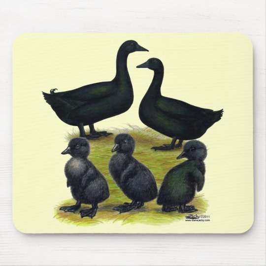 Cayuga Duck Family Mouse Pad