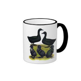 Cayuga Duck Family Ringer Mug