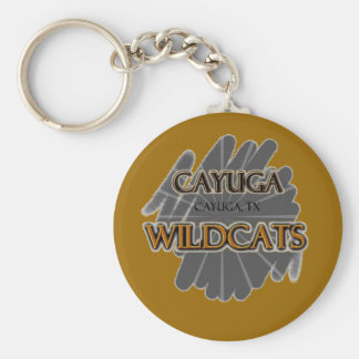 Cayuga High School Wildcats - Cayuga, TX Basic Round Button Keychain