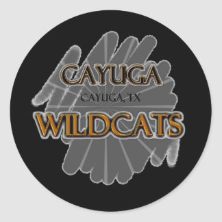 Cayuga High School Wildcats - Cayuga, TX Classic Round Sticker