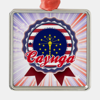 Cayuga, IN Christmas Ornament
