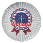 Cayuga, IN Party Plates