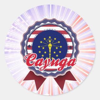 Cayuga, IN Round Sticker