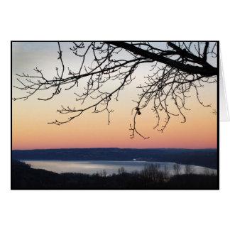 Cayuga Lake at Sunset Card