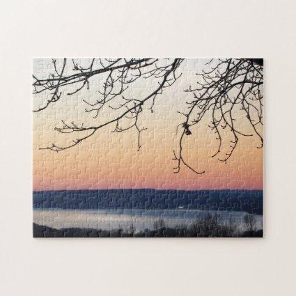 Cayuga Lake at Sunset Puzzle