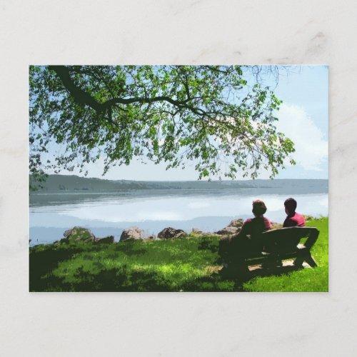 Cayuga Lake Bench postcard