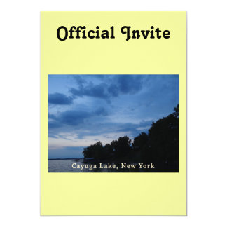 Cayuga Lake Blue Sunset Card