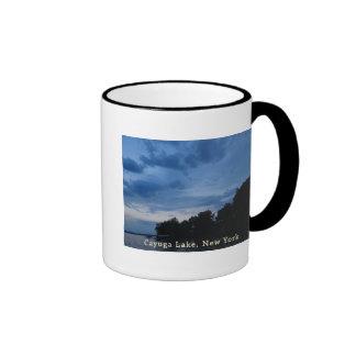 Cayuga Lake Blue Sunset Ringer Mug