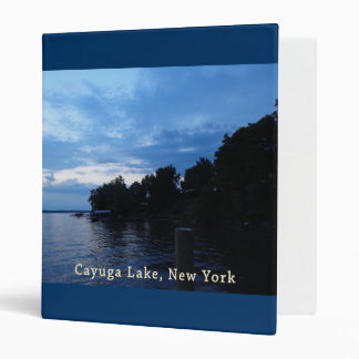 Cayuga Lake Blue Sunset Sky 3 Ring Binder